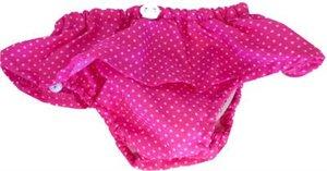 Pink dots - babysimbyxa med volanger